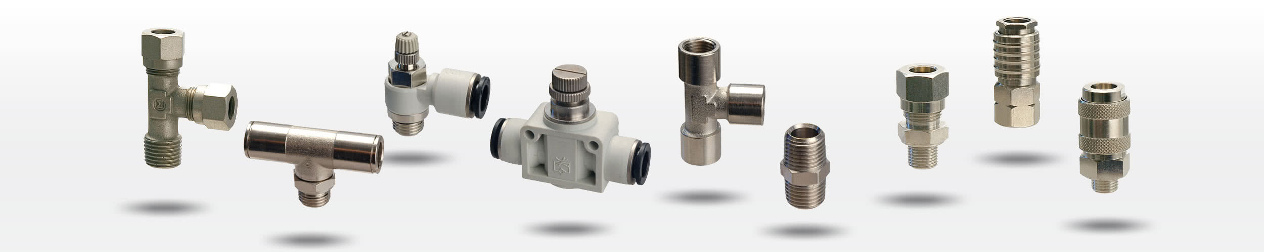 Pneumatic accessories - fittings, connectors, quick couplings, tubes